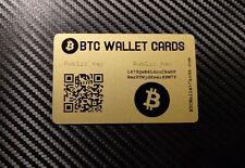 Secure BITCOIN Wallet - Safe Offline Cold Storage / GIFT Card