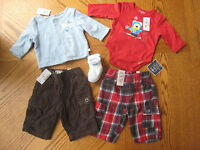 0-3 Month Baby Boy Winter Clothes Lot Outfit Top Pants Socks Tops Place