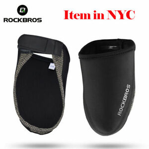 ROCKBROS Bicycle Overshoes Cycling Bike Shoe Toe Cover Windproof Warm 1 pair US