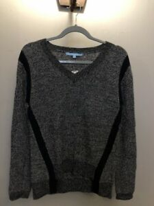 ANTONIO-MELANI-Women-039-s-Small-Navy-Blue-Knitted-Pull-Over-Sweater-100-Wool-NWT