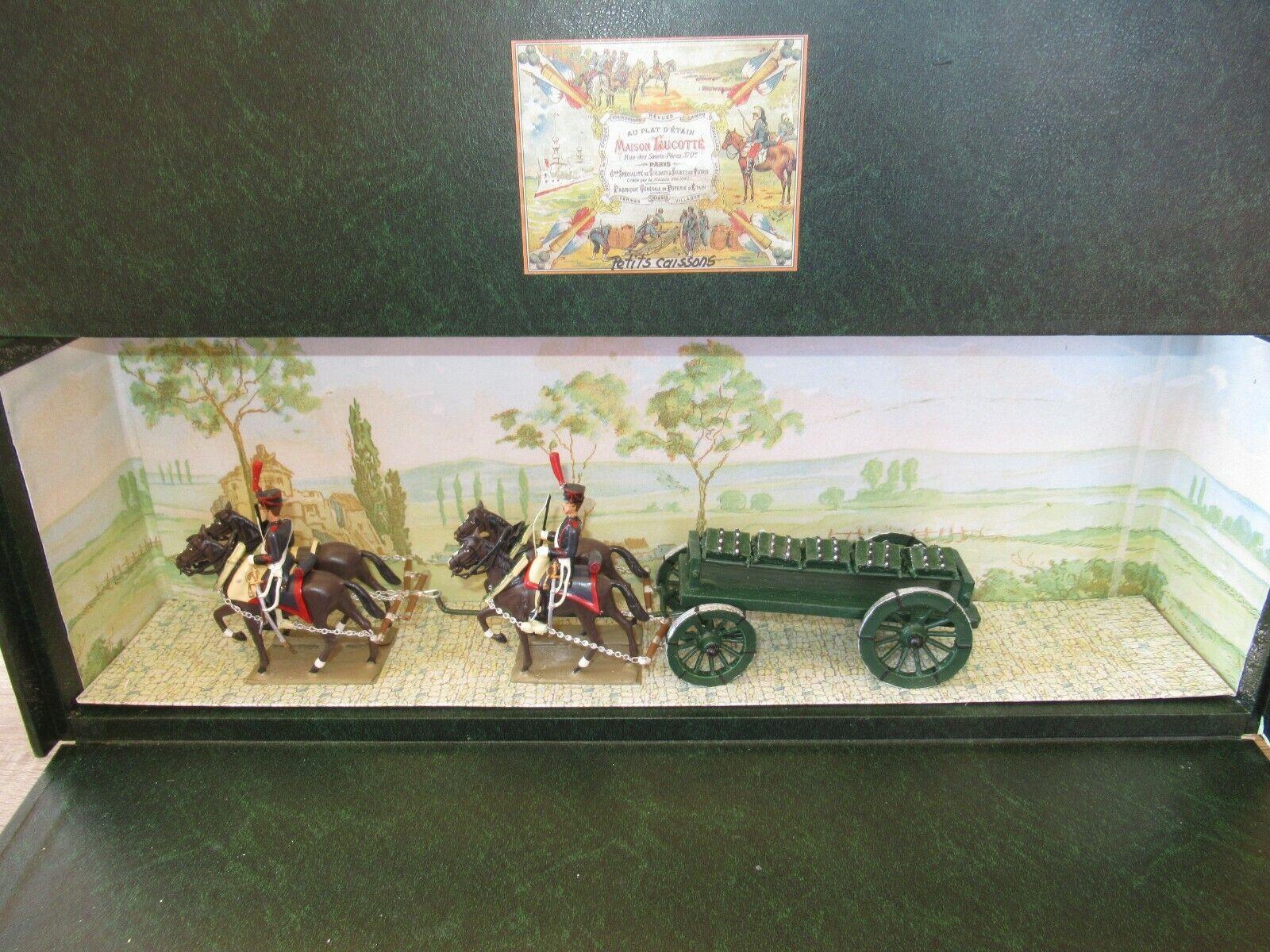 Diorama lucot acopló a cuatro caballos con cajas de de de municiones. 156