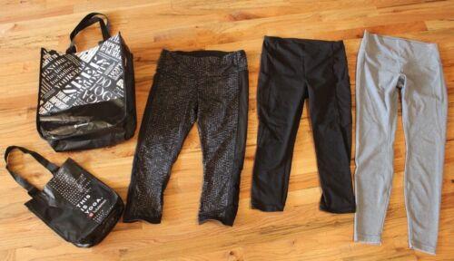 Lot of 3 Lululemon Leggings Black Capri Black Yoga