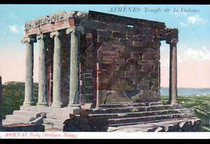 ATHENES-GRECE-TEMPLE-de-la-VICTOIRE-en-1916