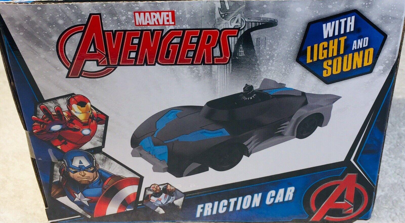 Marvel Avengers friction voiture panthère noire avec Light /& Sound New