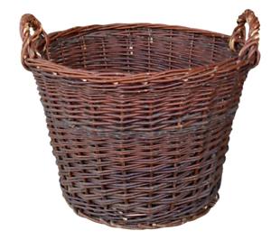 Wicker Basket Ø 50 cm Fireplace Wooden Basket Potato Basket Fruit Basket Filler Basket Net