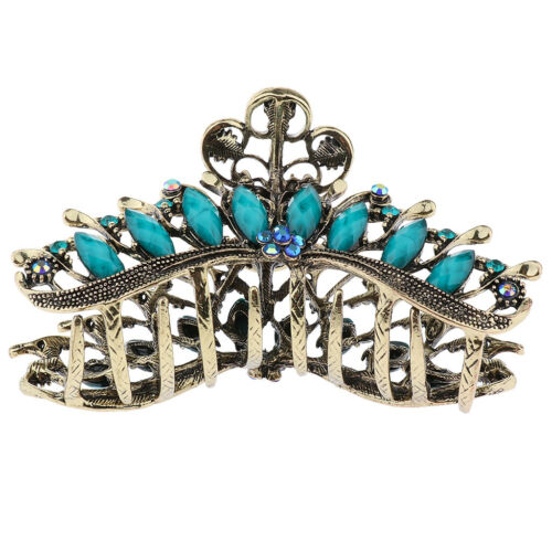 Women/'s Non-Slip Metal Hair Clips Large Crystal Hair Claws for Thick Hair