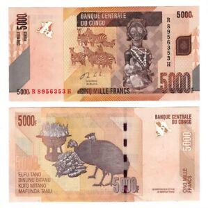 CONGO (DRC) UNC 5000 Francs Banknote (2013) P-102b Paper Money