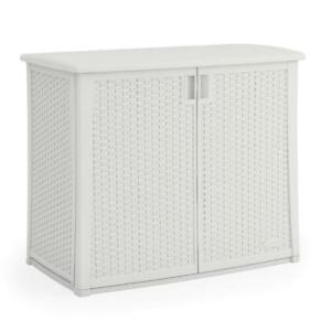 Details About Resin Outdoor Patio Wicker Cabinet Lawn Garden Tools Grill Accessories Storage