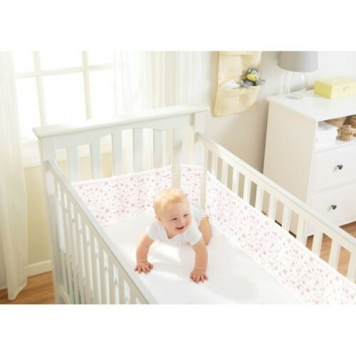 Cotbed Liner Bumper Cot 4 Sided Crib Breathable Baby Airflow Mesh Baby 2