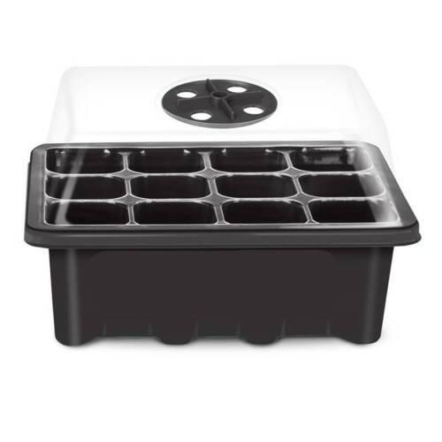 12 Holes Plant Seed Grow Box Nursery Seedling Starter Garden Yard Tray Tool ele