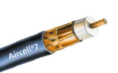 5 m Koaxialkabel Aircell 7 Konfektioniert STECKER NACH WAHL mit Knickschutz