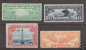 US-Sc-C9-C19-MLH-1927-Air-Post-issues-4-different