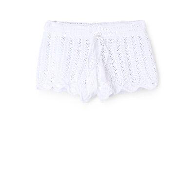 NEW Tilii Crochet Short White
