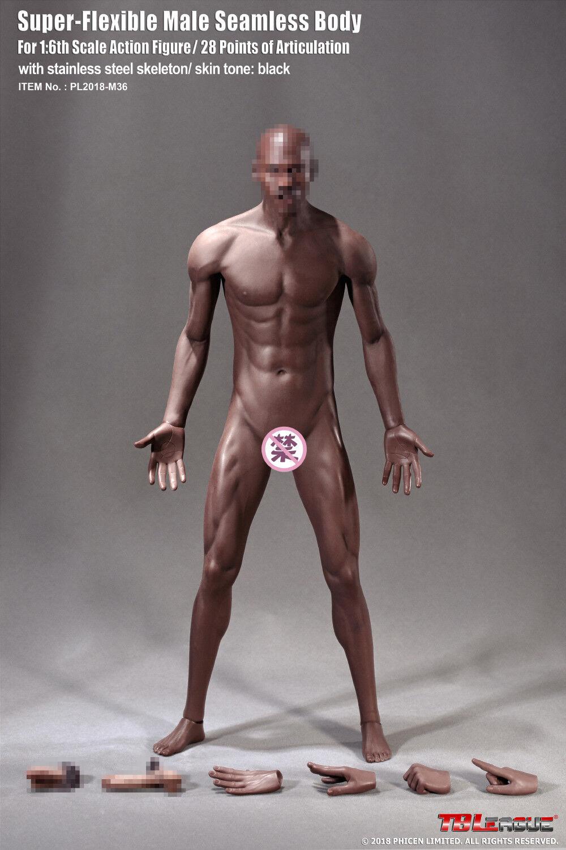 1   6 flexible nahtlose männliche muskulöse körper tbleague phicen modell m36 maßnahmen
