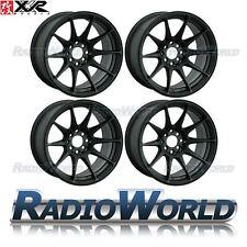"""XXR 527® 18"""" x8.75 / ET35 5X114.3 + 5x120 Light Alloy Wheels Rims Flat Black"""