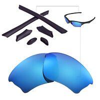 New WL Polarized Ice Blue Lenses And Black Rubber Kit For Oakley Half Jacket XLJ