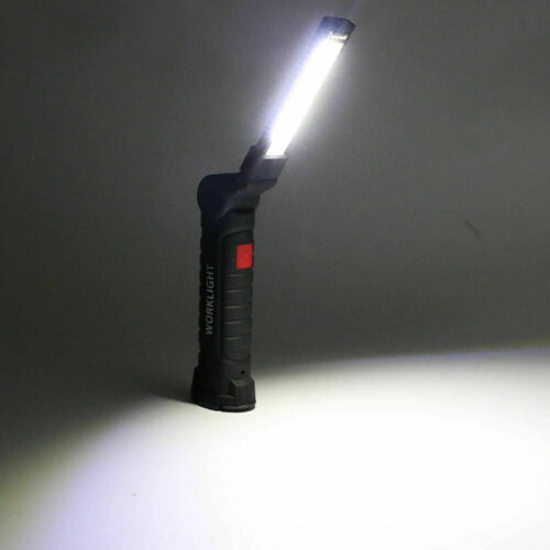 Portable 5 Mode COB Flashlight Torch USB Rechargeable LED Work Light Magnetic ♪✈