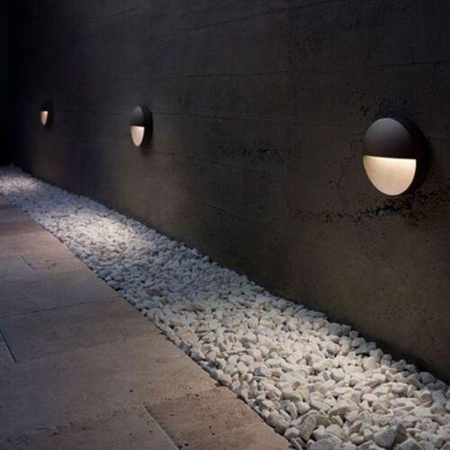6er Set 50mm 12V LED Wandeinbauleuchte Treppenleuchte Gartenleuchte Terrasse