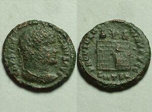 Constantine 325 Rare ORIGINAL ancient Roman coin Camp-gate turrets Star SMTSe