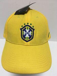 NIKE-Brazil-Soccer-Futbol-CBF-Logo-Baseball-Hat-Adjustable-Sz-Ball-Cap-NEW-NWT