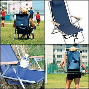 Image Is Loading Rio Wearever Steel Hi Back Backpack Beach Chair
