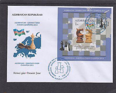 Azerbaijan Sweet-Tempered Azerbaijan 2014 European Chess Championships Ms Fdc Azerbaijan Pictorial H/s Refreshment