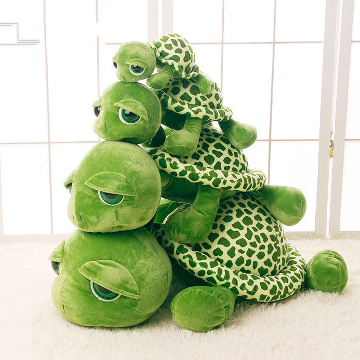 Giant Plush Green Big Eye Turtle Stuffed Soft Plush Toy Doll Pillow Present New