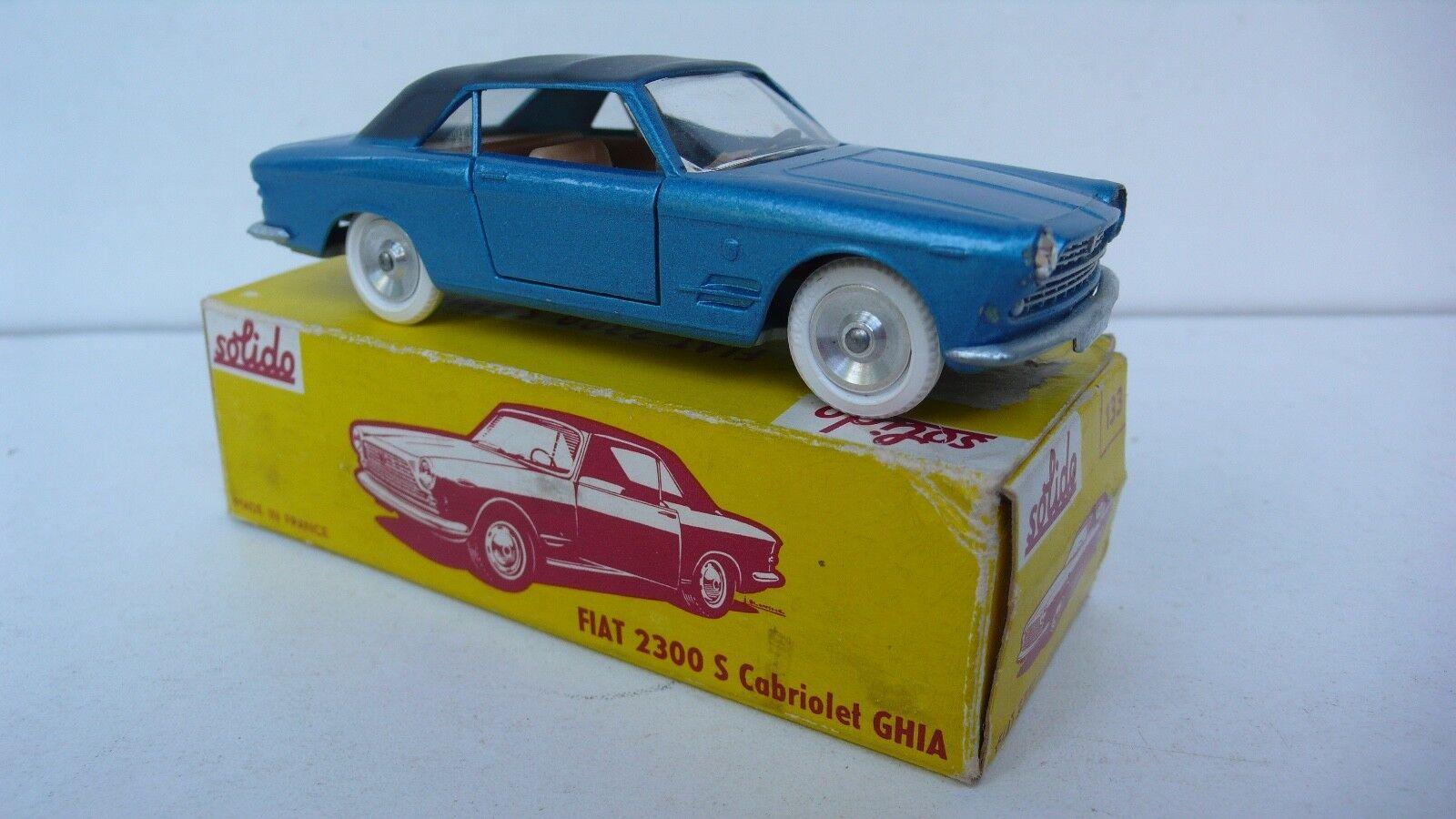 SOLIDO  SÉRIE 100   FIAT FIAT FIAT 2300 S  GHIA  REF 133  1963   BON ÉTAT  BOITE D'ORIGINE | Commandes Sont Les Bienvenues  | Outlet Store Online  e6c718
