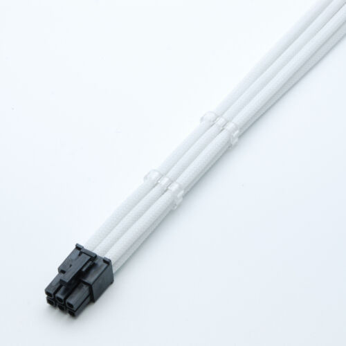 2 Free cable Combs Shakmods 6 Pin Pcie White 30cm GPU Sleeved Extension Cable
