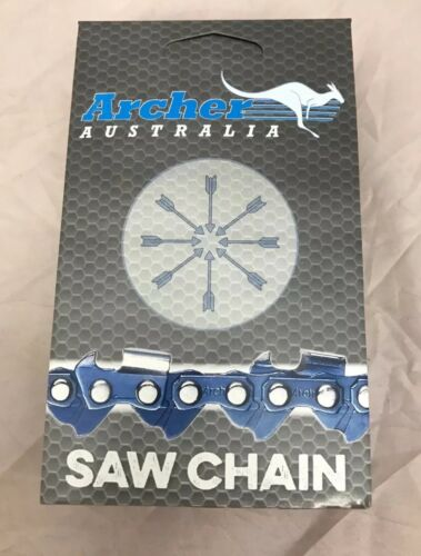".050 gauge 40DL 10/"" Archer Chainsaw Saw Chain FULL CHISEL 3//8/""LP low-profile"
