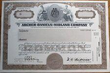 'Archer-Daniels Midland Company' SPECIMEN Stock Certificate