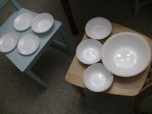 Corelle-by-Corning-Lot-1-Mixing-Bowl-4-Cereal-Soup-Bowls-and-3-Plates-Matching