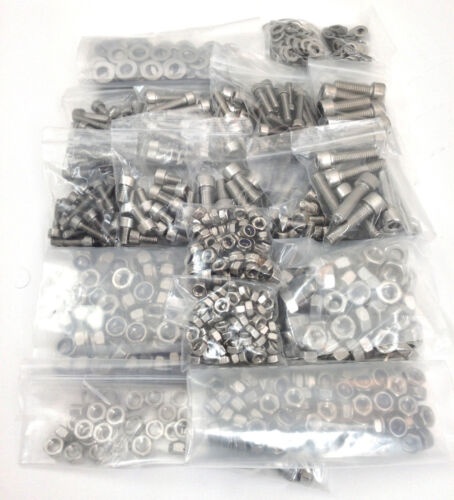 560 Piezas A2 Acero Inoxidable Allen Socket Caps arandelas De Bloqueo /& Completa NUTS