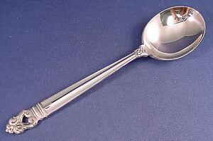 * International Royal Danish Sterling Silver Cream Soup Spoon