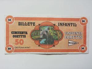 EL-CORTE-INGLES-ULTRA-RARE-034-CORTTYS-034-BILL-FICTITIOUS-MONEY-FOR-SPANISH-STORE