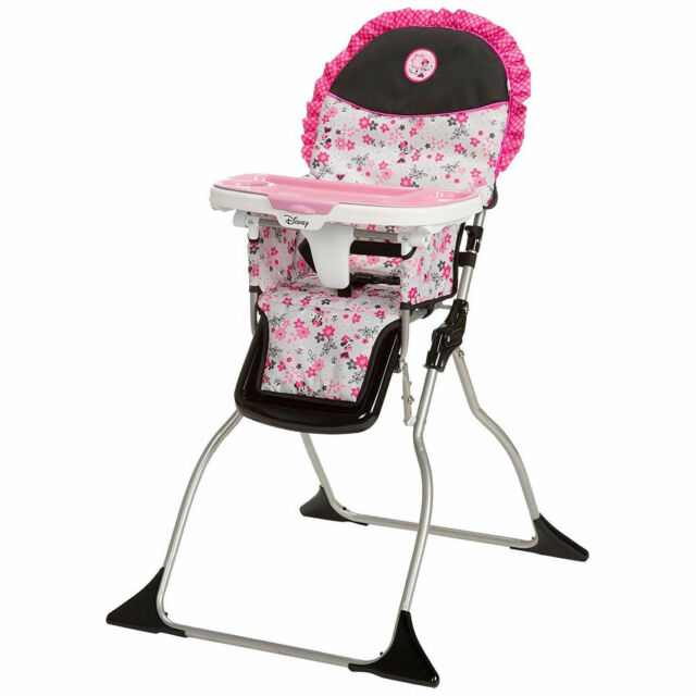 Beau Pink Baby Girl Feeding High Chair Tray Safety Strap Minnie Mouse Infant Seat