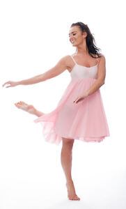 b674785c78a3 Image is loading Ladies-Girls-Pale-Pink-Lyrical-Dress-Contemporary-Ballet-