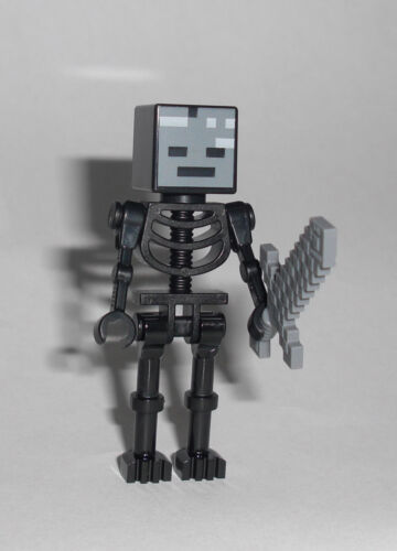 LEGO Minecraft Figur Minifig Skelett Nether 21139 21126 Wither Skeleton
