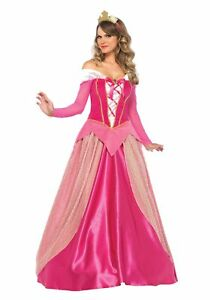 Adult-Sleeping-Beauty-Princess-Aurora-Costume-Halloween-Fancy-Dress-Party-Gown