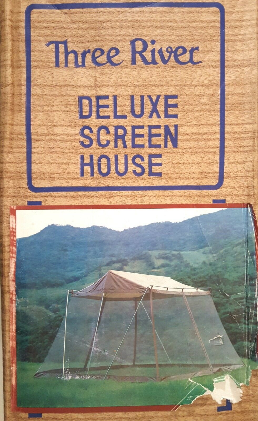 THREE RIVER SCREEN  HOUSE 12x12 OUTDOOR TENT CANOPY 1980s VINTAGE CAMPING NOS  on sale 70% off