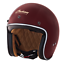 GLOSS RED RETRO OPEN FACE HELMET BY INDIAN MOTORCYCLE D RING DOT ECE S M L XL 2X