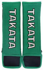 "Takata Racing 3"" (75mm) Harness Pad Pair - Green"