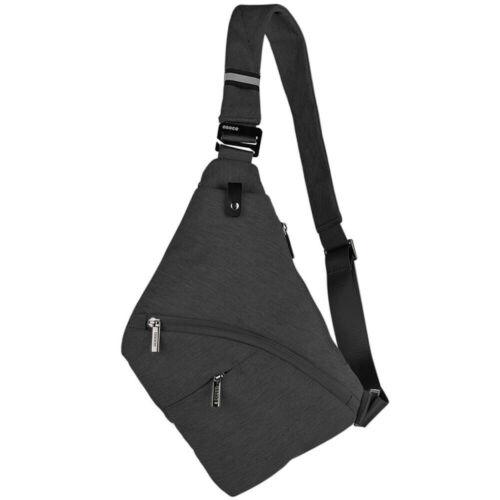 Men Women Sling Bag Shoulder Chest Pack Crossbody Handbag Nylon Fabric 7 Colors