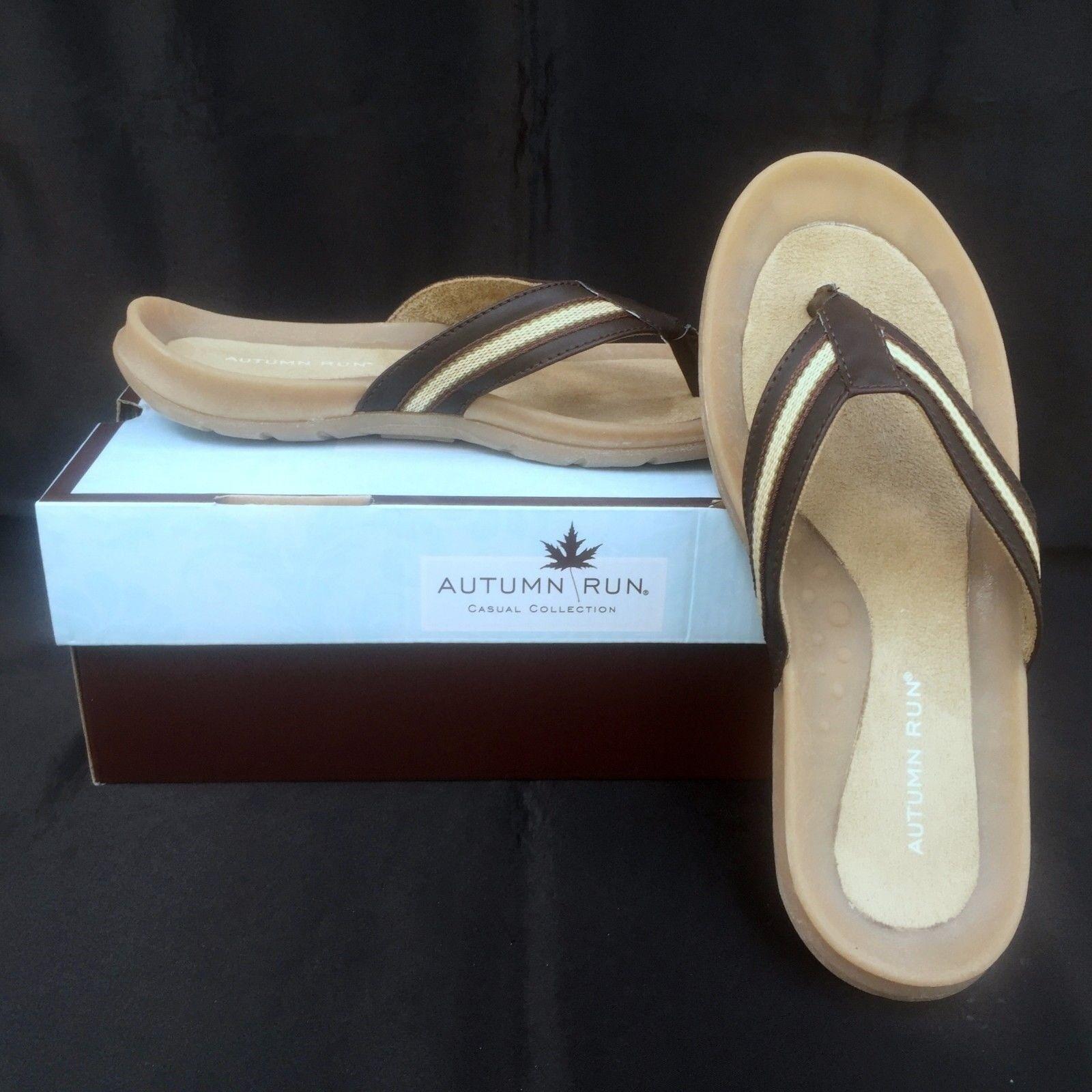 Autumn Run Debbie Size Flip Flop Sandals Womens Size Debbie 7 Brown Beige Thong 338b66