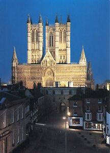 Alte-Postkarte-Lincoln-Minster-by-Night