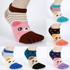 1 Pair Women's Socks Cute Girl Cute Five Random Finger Toe Cartoon Winter sock