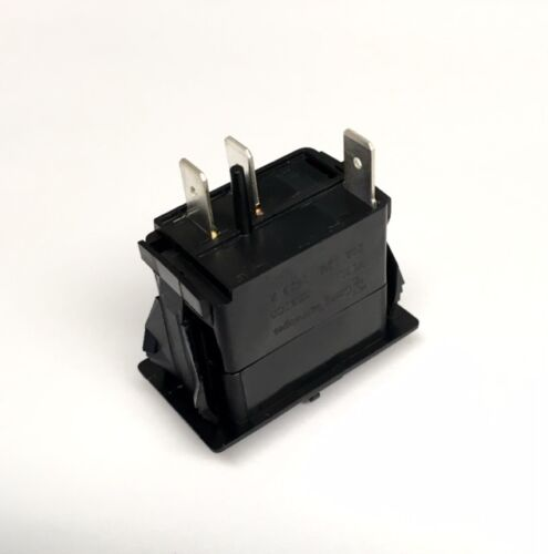 Marine Rocker ON OFF SPST Switch with  Contura II Switch Cover Live Well Black