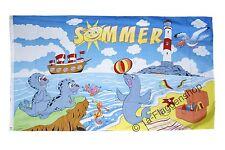Fahne Flagge Sommer - 90 x 150 cm Hissflagge
