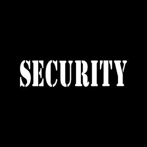 SECURITY-Sticker-Vinyl-Decal-Car-Window-Bouncer-Body-Guards-Cop-Officer-Truck