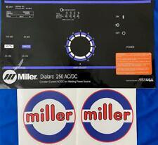 Miller Electric Arc Welders Dialarc 250 3 Pcs Decalwrap Control Plate Amp Decals